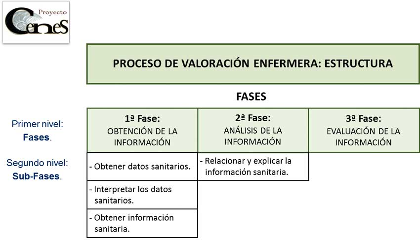 Estructura del proceso de valoración enfermera