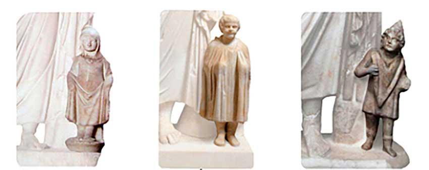 Estatuas de Asclepio y Telesforo