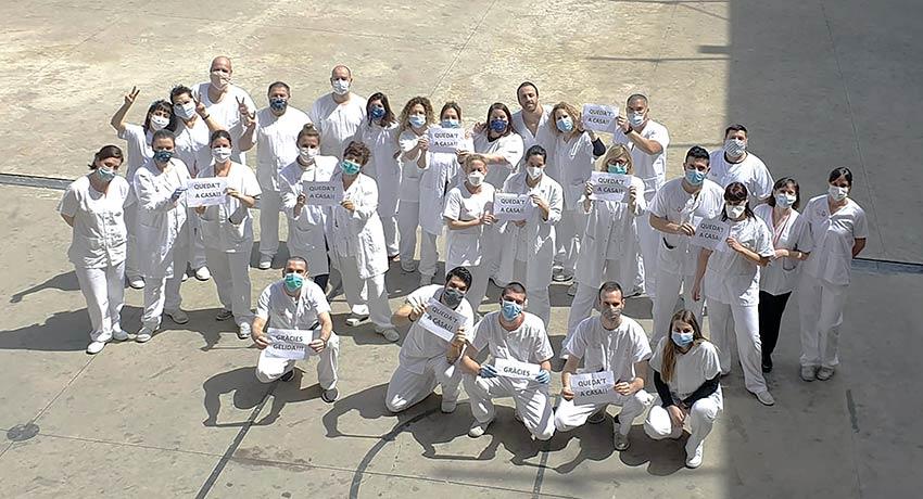Equipo de trabajo de la Unidad de Hospitalización psiquiátrica penitenciaria de Brians 1