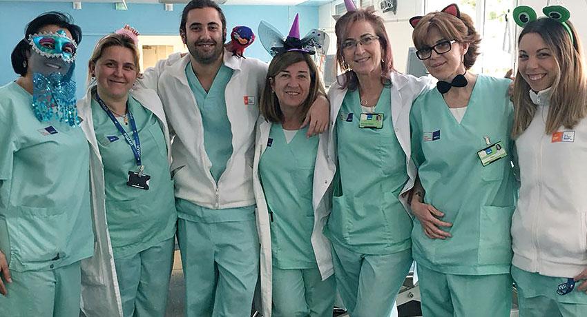 Enfermeras de la unidad de Diálisis del Hospital del Mar
