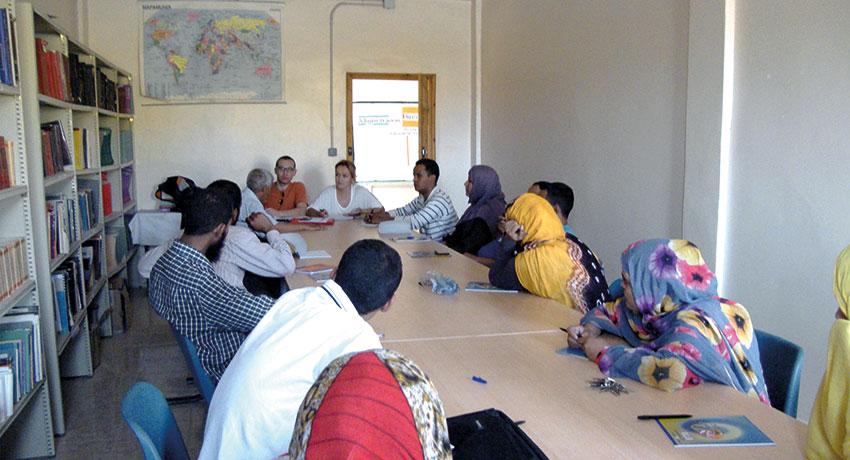 Equipo docente de la Escuela de Enfermería del Sáhara