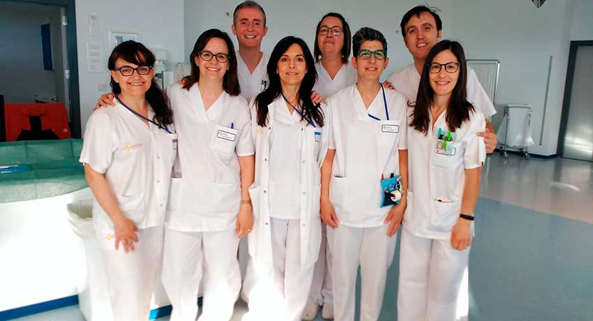 Enfermeras de la Unidad de Diálisis de la Fundación Hospital Calahorra
