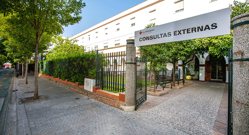 Consultas externas del Hospital de la Cruz Roja de Sevilla