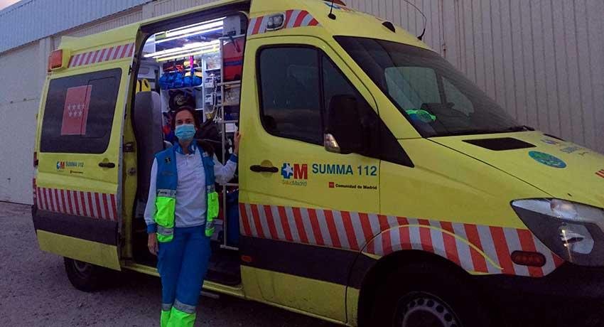 Cristina Matesanz, enfermera SVAE del SUMMA 112