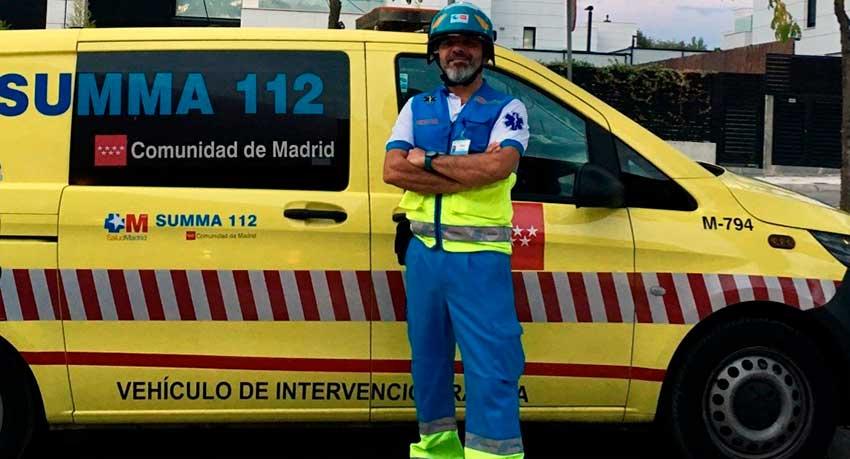 Cristino del Campo, supervisor de guardia del SUMMA 112