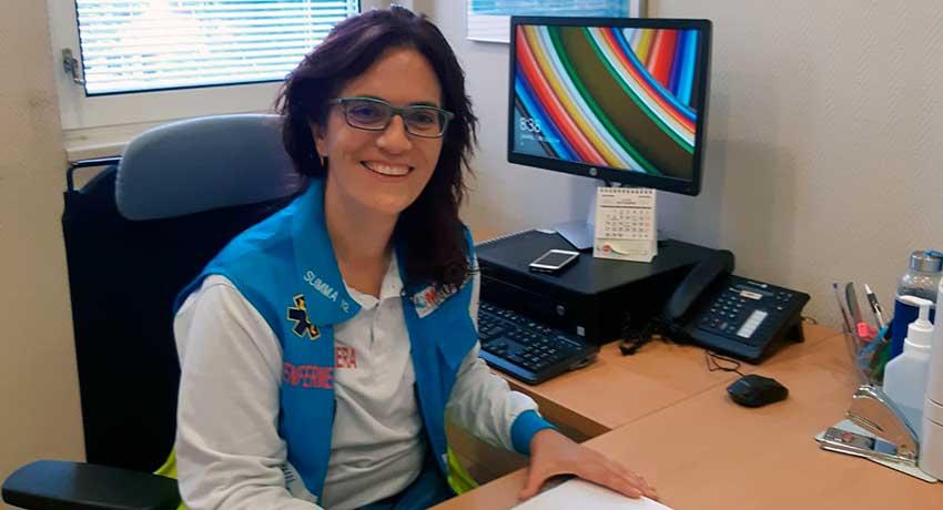 Elena Pastor, enfermera del departamento de Investigación y Formación del SUMMA 112