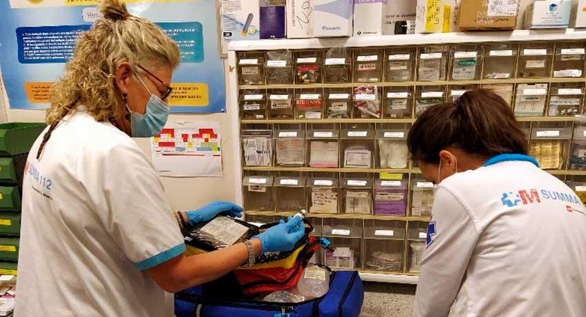 Izaskun Prieto, enfermera del servicio de Farmacia del SUMMA 112