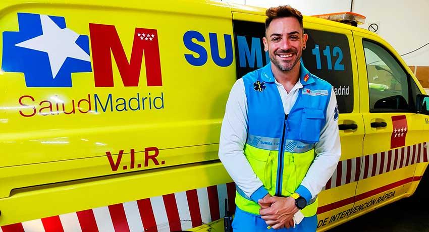 Javier Álvarez, enfermero coordinador del SUMMA 112-SVAE
