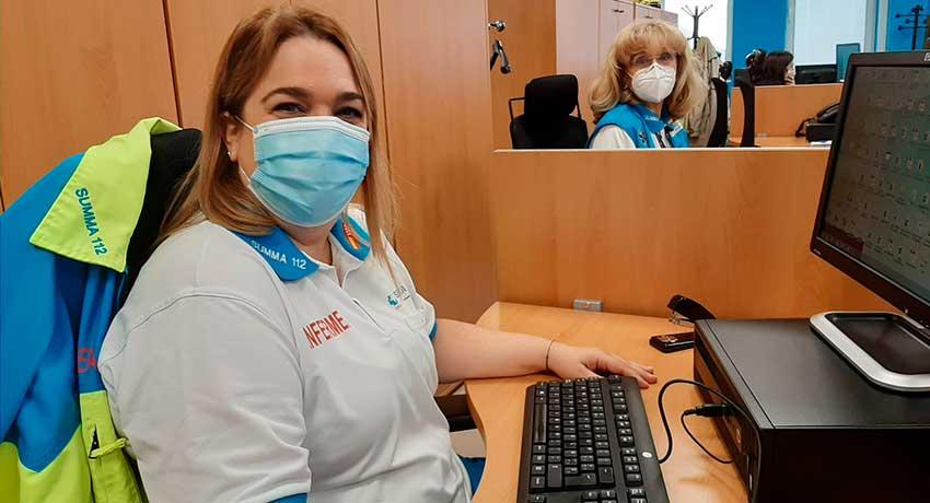 Patricia Fernán, enfermera del departamento de Calidad del SUMMA 112
