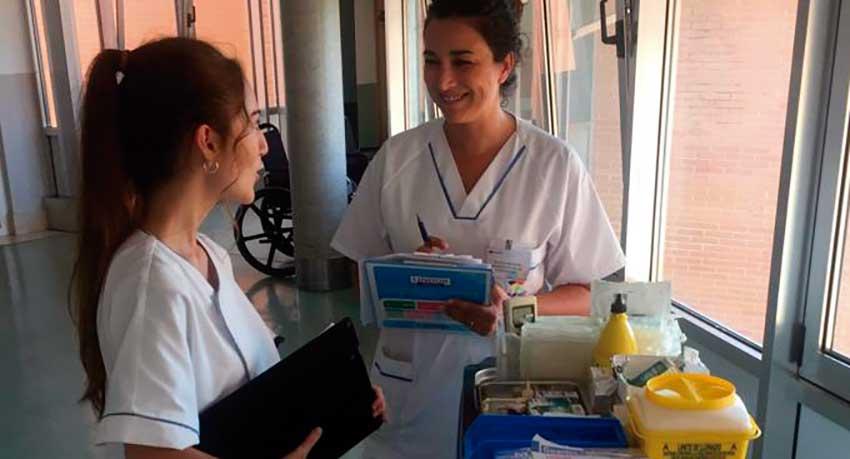 Elena Rincón, enfermera