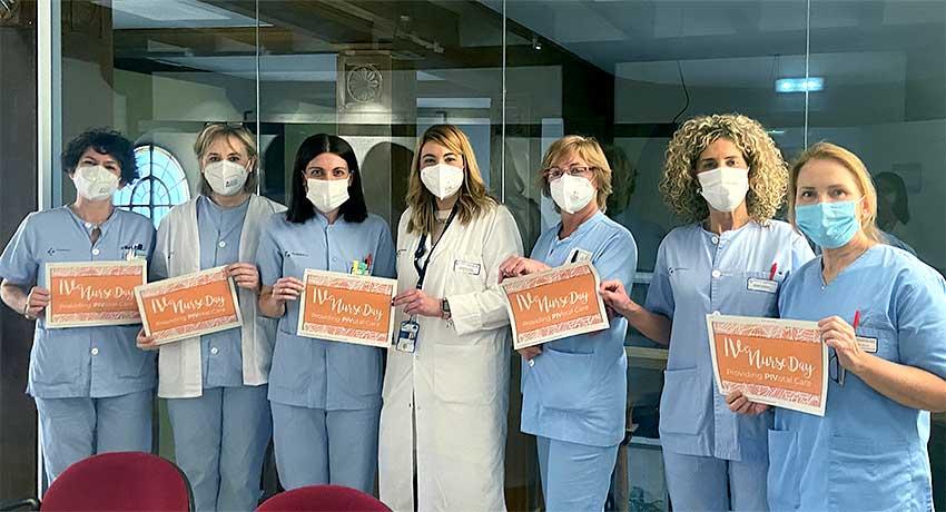 Equipo de enfermería del hospital de Santa Marina