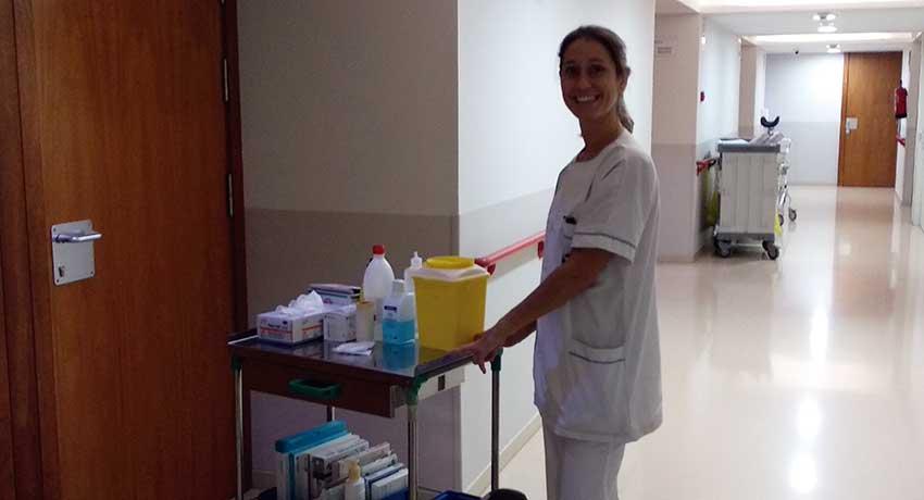Laia Cañada, enfermera