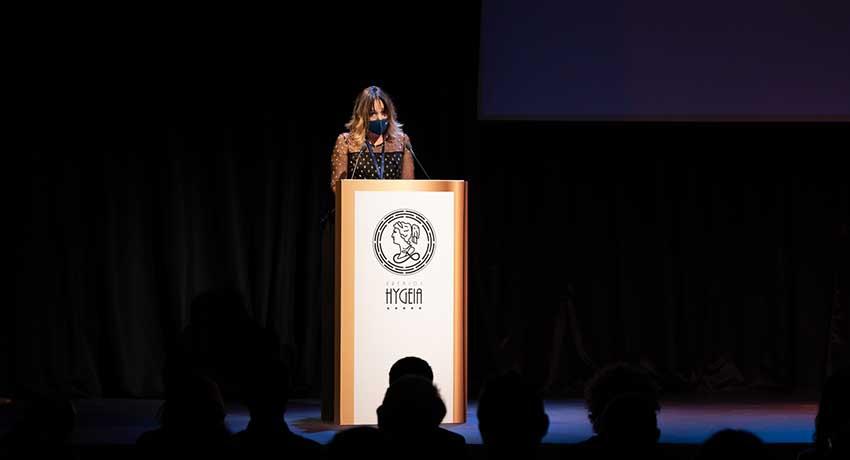 AmelIa Amezcua, directora de Fuden, durante su intervención en el Festival de Cortos Hygeia